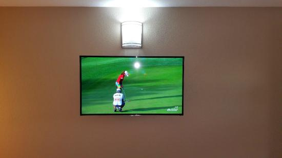 Westbridge Inn & Suites: Big LED TV