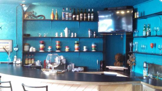 Saguache, CO: The bar inside the theater.