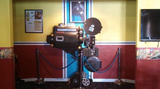 The Historic Ute Theatre: Old movie projector.