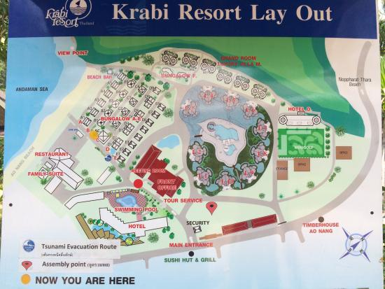 Lay out map Picture of Krabi Resort Ao Nang TripAdvisor