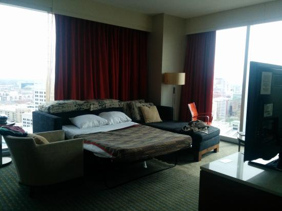 View From Executive Suite Living Room Picture Of Jw Marriott Indianapolis Indianapolis