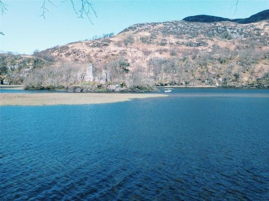 the lake with castle