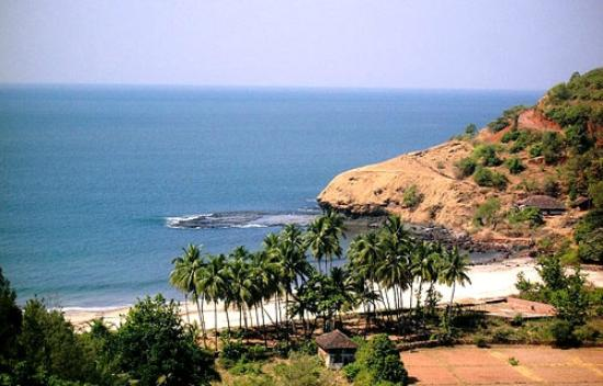 Velneshwar, Indien: Sea Beach Ariel view from MTDC