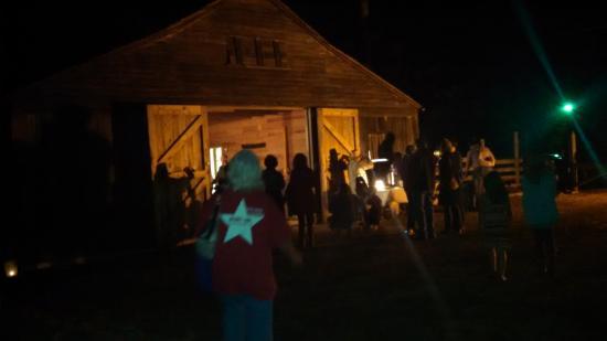Anderson, Техас: Barn area during event