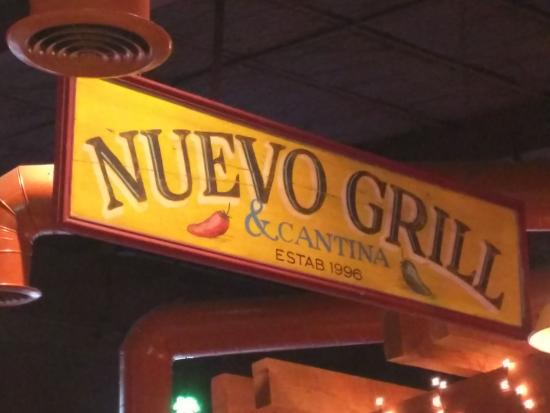 Nuevo Grill & Cantina: Signage inside the restaurant