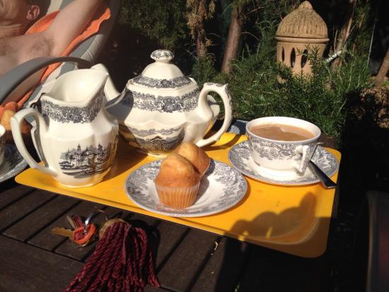 Ca'n Reus Hotel: afternoon tea in the garden