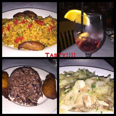 Vicente's Cuban Cuisine: BUT not authentic! The yucca & the congri were good the arroz con pollo was delicious but very v