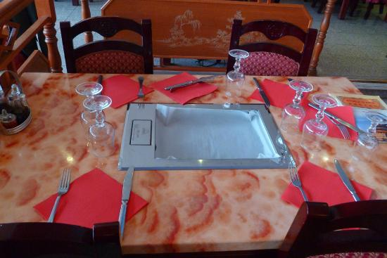 La Plancha Integree A La Table Photo De Etoile D Asie Grigny