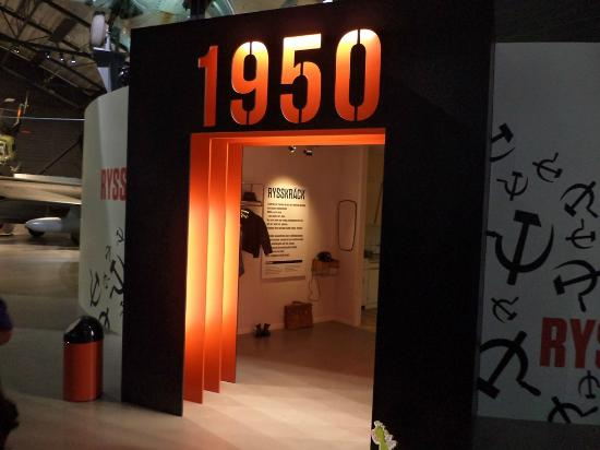 The Swedish Air Force Museum Entrance To 1950s House Interior Reconstruction
