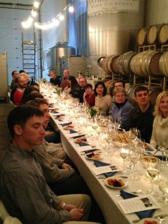 Anthony Road Wine Company: Cellar Sampler- wine and food pairings in our Production Facility
