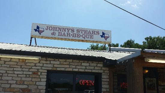 Johnny S Steaks Bar Be Que Roof Top Sign Of Restaurant In