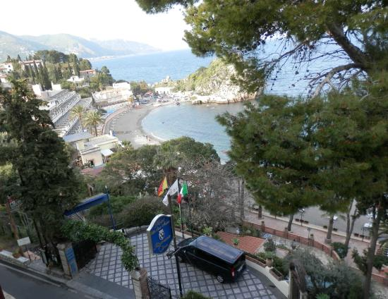 Jonic Hotel Mazzaro: vista desde la ventana del hotel