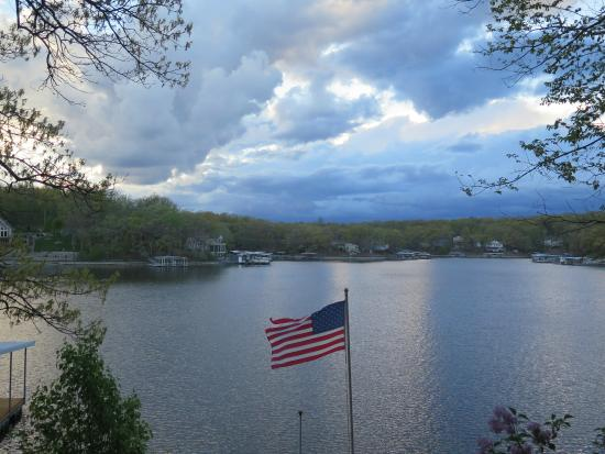 Bass and Baskets: View from the deck