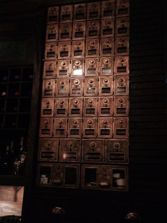 Emily's: The mail boxes from the original building!
