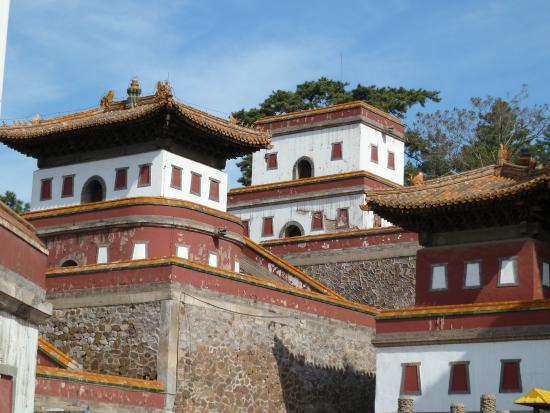 Temple of Universal Peace (Puning si) : Puning Temple - particolare di finestre in stile tibetano