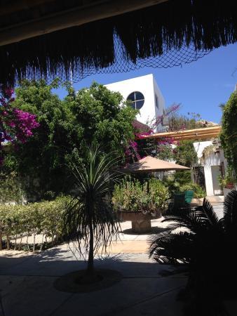 Los Milagros Hotel: Courtyard area