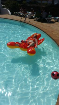 in the pool with larry