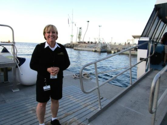 Dana Point, CA: Sue, one of the crew members, was friendly. We had a great visit on the way back to Avalon.