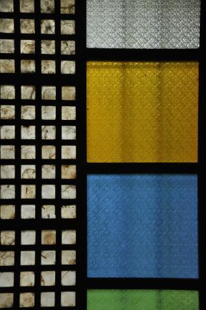 Museum window door glass capiz and wood panel picture for Capiz window