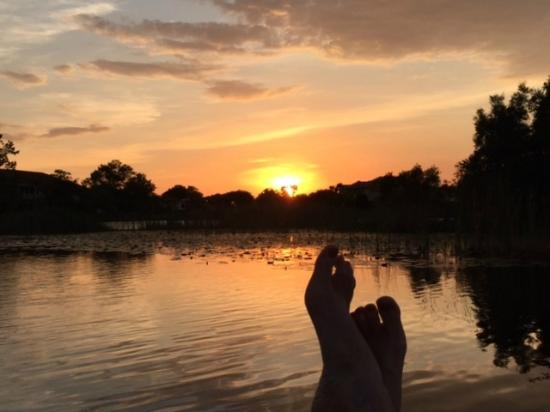 Caliente Resort and Spa: Kick back, sit on the dock, and enjoy the sunsets
