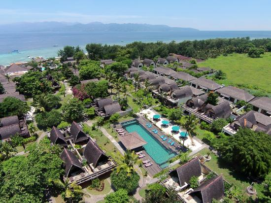 Hotel Vila Ombak Aerial View