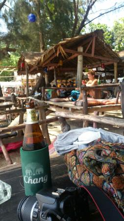 The Funky Fish: Their bar on the beachfront