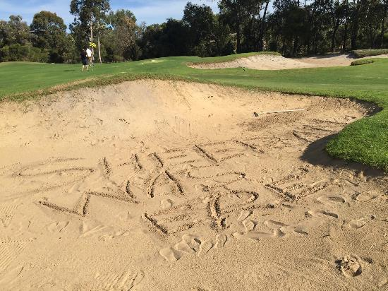 The Vines, Australia: Found this signature in one of the bunkers - he was in Perth that week too...