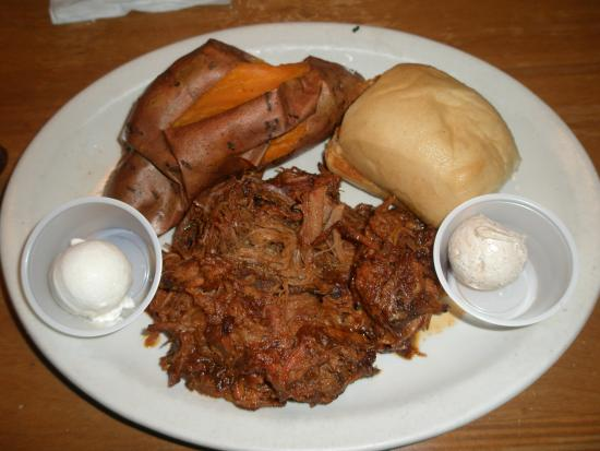 Texas Roadhouse: Pulled Pork Dinner With Baked Sweet Potato
