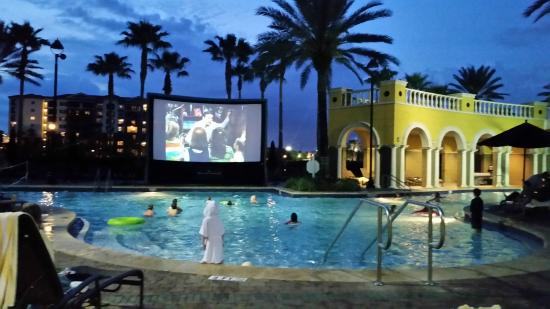 movie night - Picture of Hilton Grand Vacations at Tuscany