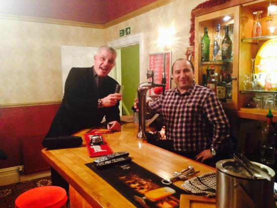 Ilfracombe House Hotel: with Tony Gale, the West Ham legend