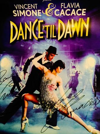 """Ilfracombe House Hotel: """"Dance til Dawn"""" signed Poster from Vincent & Flavia"""