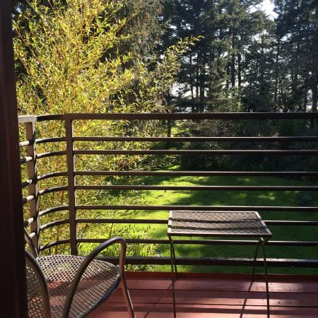 Nahcotta, WA: View looking out from room #2's deck