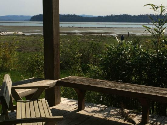Nahcotta, WA: View of Willapa Bay from the Sauna building