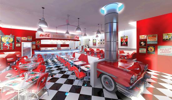 Olympic Lagoon Resort Paphos: 50's Diner Restaurant