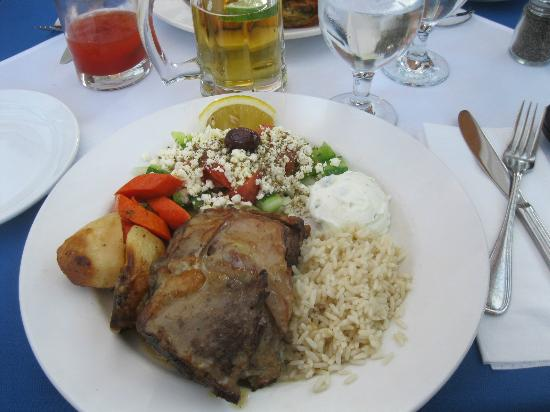 Asteras Greek Taverna : My roasted lamb cooked to perfection