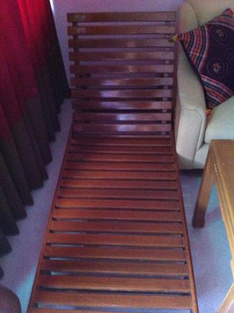 River Kwai Hotel: room wooden chair with no cushions