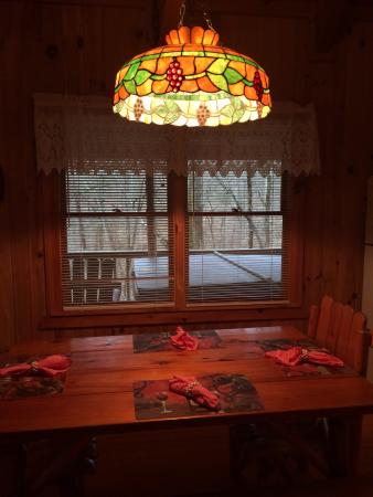 Cavender Creek Cabins Resort: New Lamp over Kitchen Cabin 4. Love It