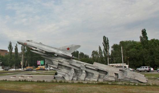 Airplane-Monument MiG-21