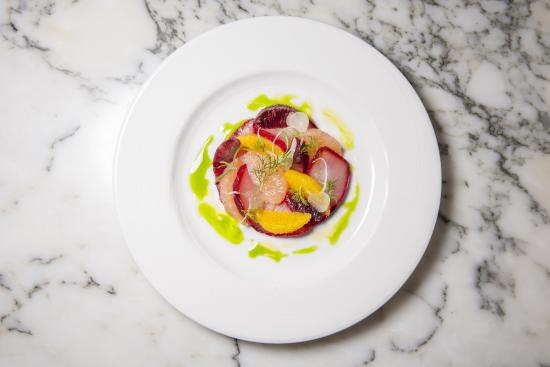 Beet Cured Hamachi Picture Of Db Bistro Oyster Bar Singapore Tripadvisor