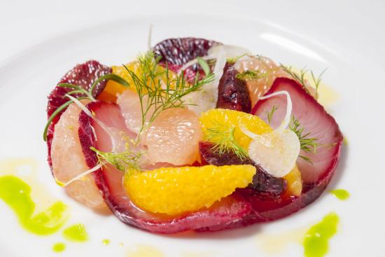 Beet Cured Hamachi Crudo Picture Of Db Bistro Oyster Bar Singapore Tripadvisor