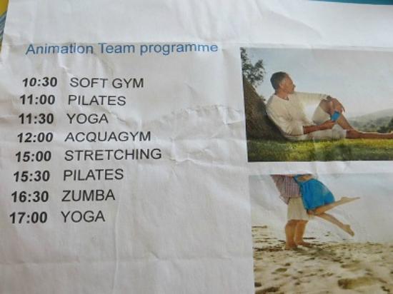 SENTIDO Blue Sea Beach  Animation programme   not running. Animation programme   not running    Picture of SENTIDO Blue Sea