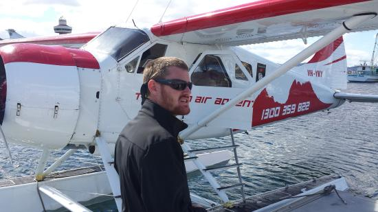 Tasmanian Air Adventures Day Tours: Ben giving the safety briefing