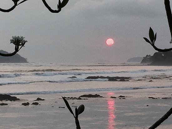 CABANAS LA COQUITA : coucher du solei vu de l'hotel