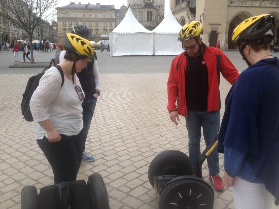 Segway Tours Krakow: Learning the ropes.
