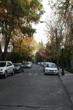 Los Espanoles Hotel : The Quiet Residential Street in front of the Hotel