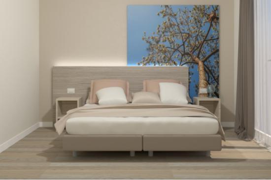 "Park Hotel Pineta - Family Relax Resort: render delle nuove camere nelle ""Harmony 32"" e nelle ""Family Harmony 40 mq"""