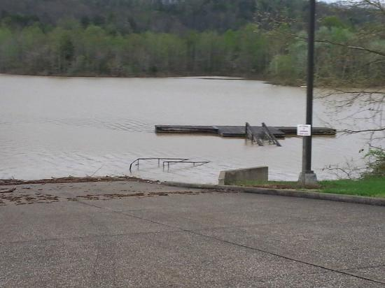 Grayson Lake State Park Campground: Flooded Deck
