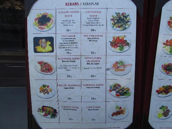 The Han Kebap House: foto menu 1
