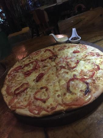 El Huerto De Playa Grande : I think this was the Spanish pizza. Delicious!