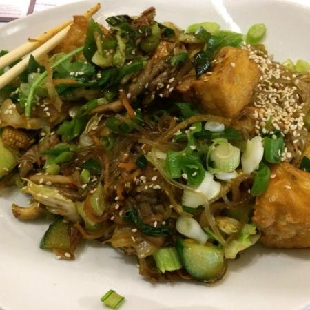 Tampopo: Chap Chae- or - Korean Sesame Scented Glass Noodles- Vegan option